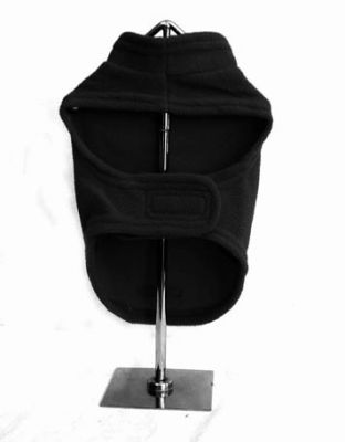 Doggie Design(ドギーデザイン)Black Fleece Harness Vest ブラック フリース ベスト