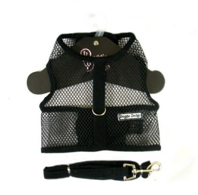 Doggie Design(ドギーデザイン)NEW Black Netted Mesh Harness ニュー ブラック メッシュ ハーネス