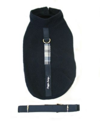Doggie Design(ドギーデザイン)Navy Blue Fleece Wrap Vest ネイビー ブルー フリース ラップ ベスト