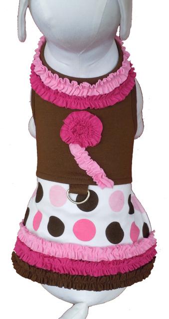 Cha-Cha Couture(チャチャクチュール)Ruffles and Polka Dots Harness Dress フリル ポルカドット ハーネス ドレス