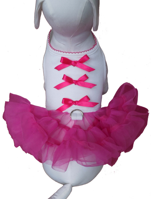 Cha-Cha Couture(チャチャクチュール)Little Ballerina Tutu Dress Hot Pink バレリーナ チュチュ ハーネス ドレス ホット ピンク