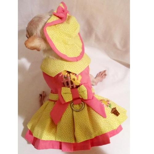 Platinum Puppy Couture(プラチナ パピー クチュール)Little Chick Harness Dog Dress リトル チック ハーネス ドレス セット