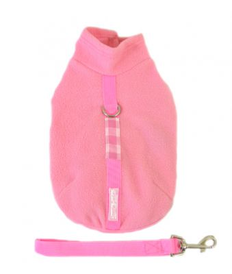 Doggie Design(ドギーデザイン)Pink Fleece Wrap Vest ピンク フリース ラップ ベスト