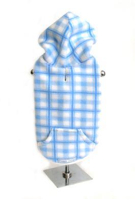 Doggie Design(ドギーデザイン)Blue Plaid Fleece Hoodie ブルー プレイド フリース パーカー
