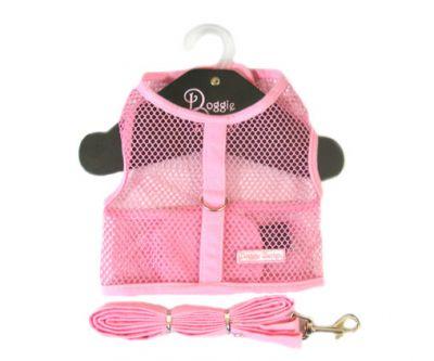 Doggie Design(ドギーデザイン)NEW Pink Netted Mesh Harness ニュー ピンク ネット メッシュ ハーネス ベスト