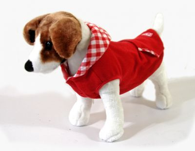 Doggie Design(ドギーデザイン)Red Fleece Hoodie レッド フリース フード