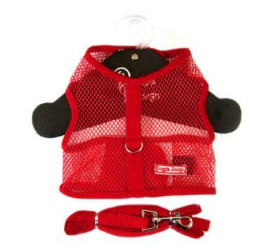 Doggie Design(ドギーデザイン)NEW Red Netted Mesh Harnessニュー レッド ネット メッシュ ハーネス ベスト