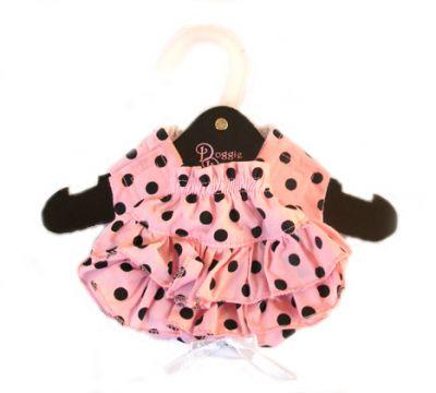 Doggie Design(ドギーデザイン)NEW Ruffled Pink & Black Polka Dot Panties ニュー フリル ピンク ブラック ポルカドット パンティー