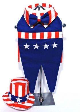 Doggie Design(ドギーデザイン)Uncle Sam Costume with Hat アンクル サム コスチューム セット