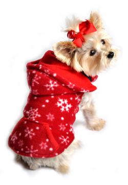 Doggie Design(ドギーデザイン)Red Snowflake Reversible Vest レッド スノーフレーク リバーシブル ベスト