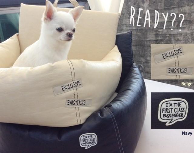 【送料無料】Louisdog(ルイドッグ)犬用ドライブキャリーシート Driving Kit Navy Grand ドライビング キット ネイビー グランドサイズ