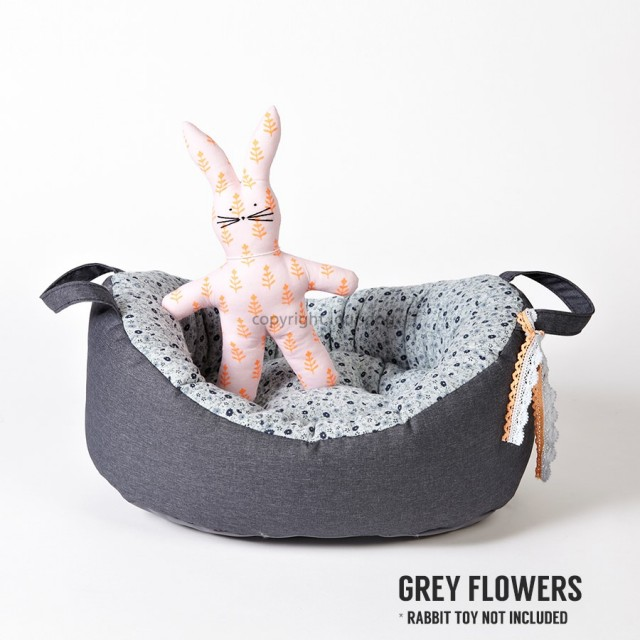 Louisdog(ルイスドッグ)犬用ベッド My First Louisdog Organic House Grey Flowers マイ ファースト ルイドッグ オーガニック ハウス