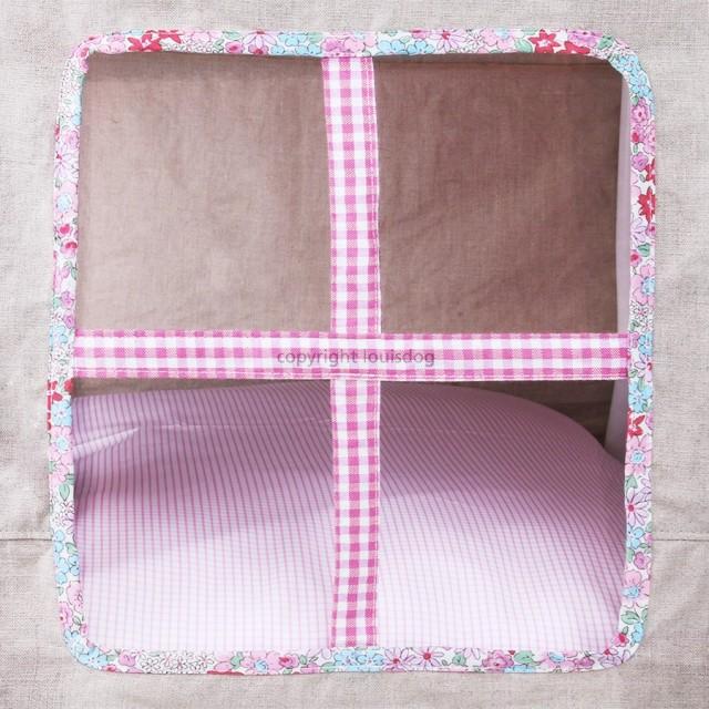 Louisdog(ルイドッグ)犬用ベッド Peekaboo/Egyptian Cotton Pink Petit ピーカブ エジプシャン コットン ハウス ベッド ピンク