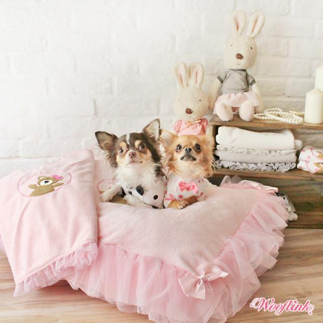 Wooflink(ウーフリンク)犬用ベッド TEDDY & ME BED PINK テディ アンド ミー ベッド ピンク