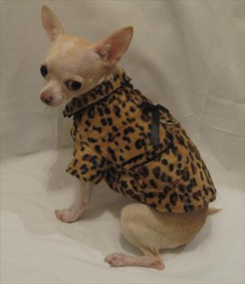 Platinum Puppy Couture(プラチナ パピー クチュール)Fur Baby Cheetah Print Dog Coat ファー ベビー チーター プリント コート