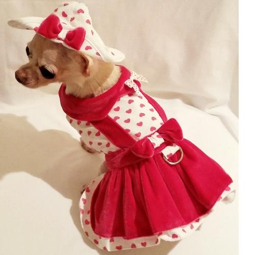Platinum Puppy Couture(プラチナ パピー クチュール)ドッグウェア Lady Love Harness Dress レディー ラブ ハーネス ドレス セット