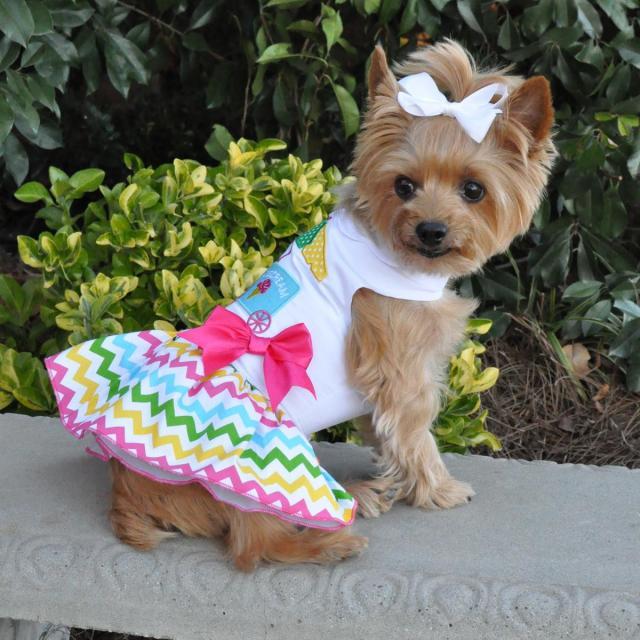 Doggie Design(ドギーデザイン)ドッグウェア Ice Cream Cart Dress アイスクリーム カート ドレス