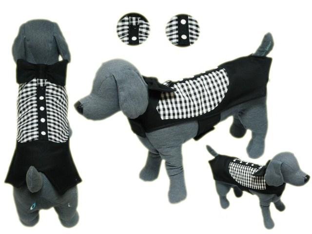 Emma Rose Design(エマローズデザイン)Black Tie Affair Boy Dog Vest ブラック タイ アフェア ベスト