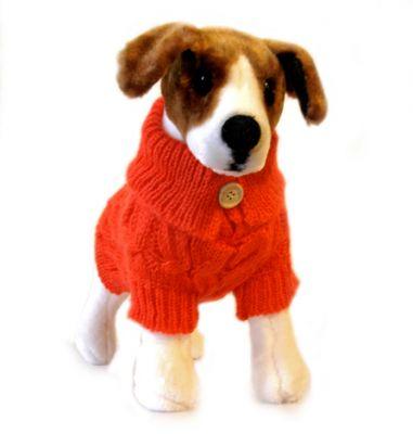 Doggie Design(ドギーデザイン)Mandarin Red Cable Knit Sweater マンダリン レッド アクリル モヘア セーター