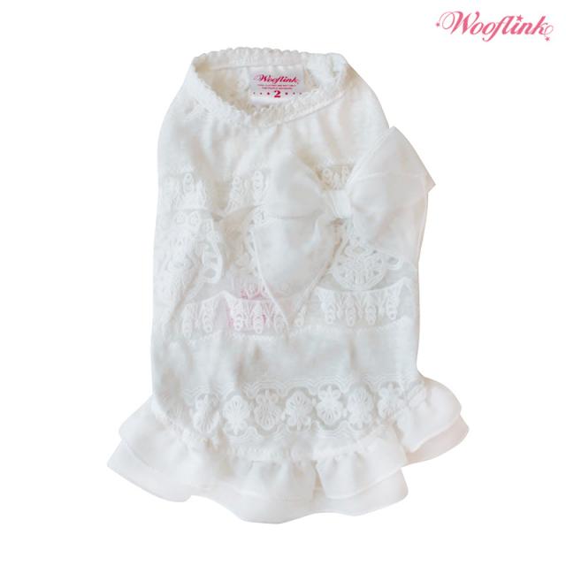 Wooflink(ウーフリンク)ドッグウェア SUMMER DAYS MINI DRESS WHITE サマー デイズ ミニ ドレス ホワイト