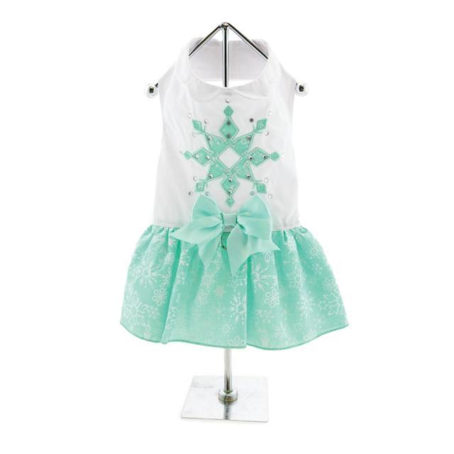 Doggie Design(ドギーデザイン)ドッグウェア Turquoise Crystal Dog Dress ターコイズ クリスタル ドレス