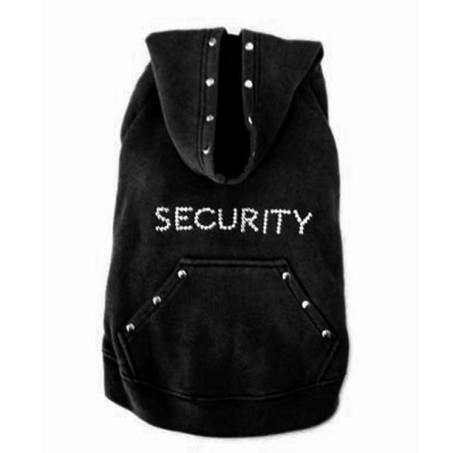 Doggie Design(ドギーデザイン)Black Security Dog Sweatshirt ブラック セキュリティ トレーナー