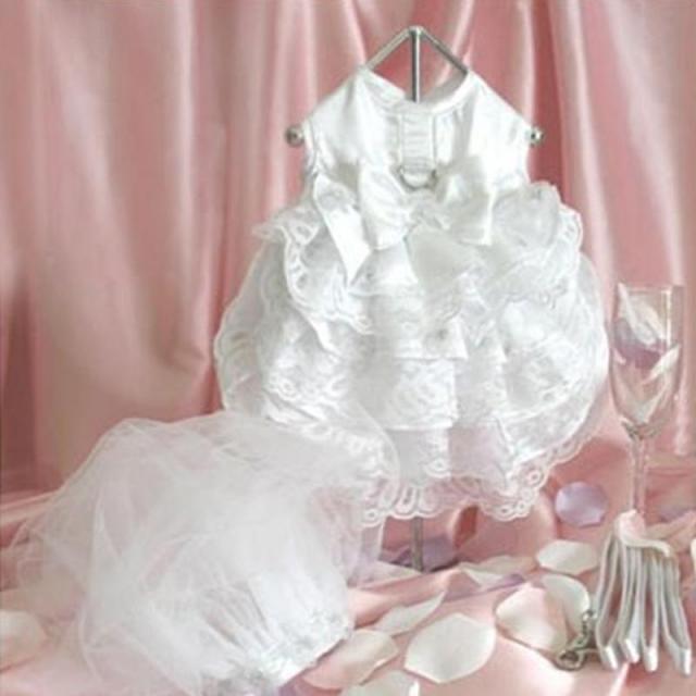 Doggie Design(ドギーデザイン)ドッグウェア Dog Wedding Harness Dress Set  ウエディング ドレス セット