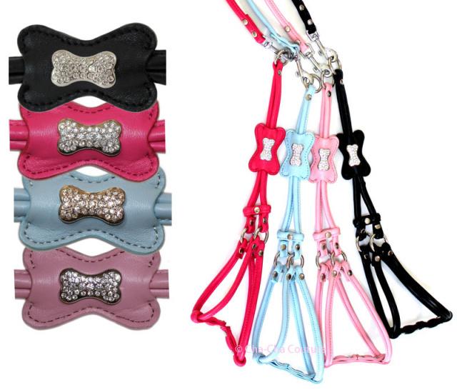 Cha-Cha Couture(チャチャクチュール)Step In Style Harness Bone Matte Light Blue ステップ イン ボーン ハーネス