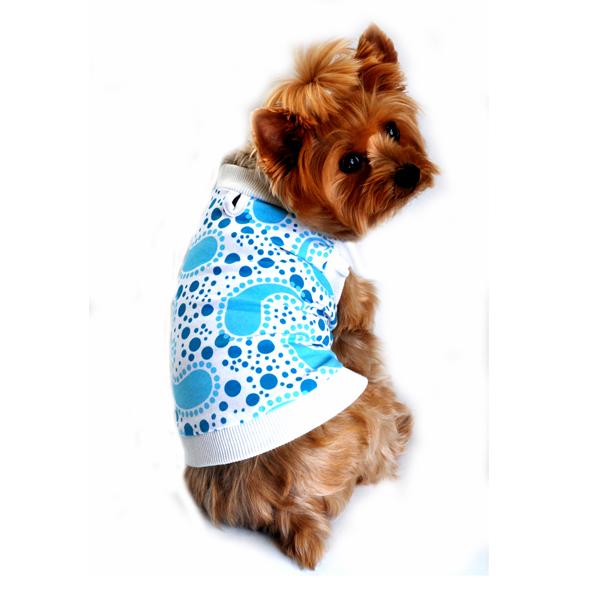 Doggie Design(ドギーデザイン)Paisley Tank Top Blue ペイズリー タンクトップ ブルー